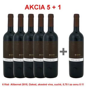Action 5 + 1 REPA WINERY Alibernet 2015, Oaked, Quality wine, dry, 0,75 l