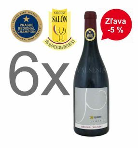 Action - 6 x Zuzkin Pinot II (Pinot Noir) 2015 Limited edition, Oaked, Quality wine, dry, 0,75 l