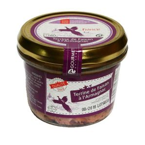 Pheasant  terrine with Armagnac, 180 g, Gourmet Partners
