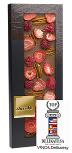 CHocoMe -  40% milk chocolate pecans, raspberry, strawberry, 100g