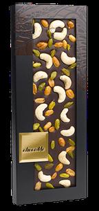 CHocoMe - Dark chocolate 66% cashews, peanuts roasted in honey, pistachios 100g
