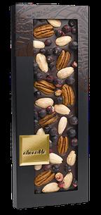 CHOCOMA - Dark Chocolate 66% pecans, almonds, black currant 100g