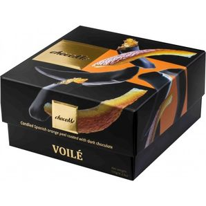 ChocoMe Voilé - Candied Spanish orange peel in dark chocolate with cloves, 120g
