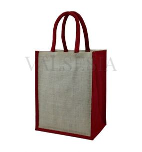 Gift jute bag for 6 bottles