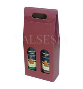 Gift carton Wine 2 x 0.75 liters - deep red
