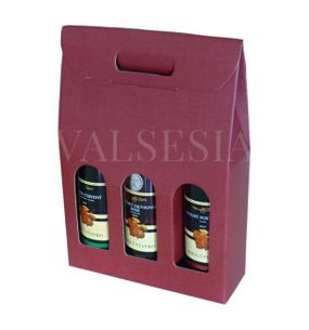 Gift carton Wine 3 x 0.75 liters - deep red