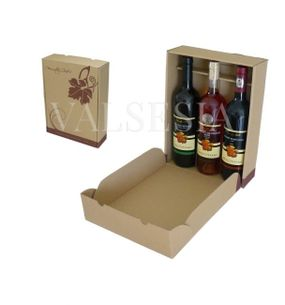 Gift carton Wine 3 x 0.75 with logo Mrva & Stanko