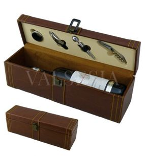 Gift wrapping for one wine imitation leather + 4 winemaking equipment