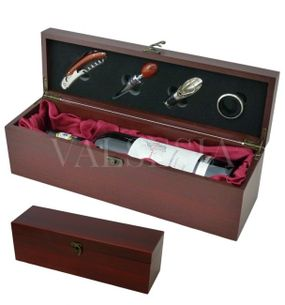 Gift wrapping for one wine mahogany satin + 4 winemaking equipment