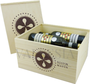 Wooden gift box for wine Pomfy - Mavín 6 x 0.75 l