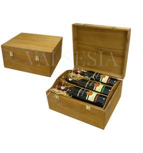 Wooden gift box for 6 bottles
