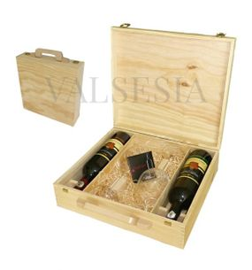 Wooden gift case Mrva & Stanko 2 x  0.75l