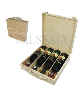 Wooden gift case Wine 4 x 0.75l