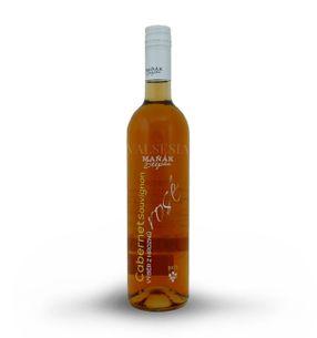 Cabernet Sauvignon rosé 2015, selection of grapes, semi-sweet, 0,75 l