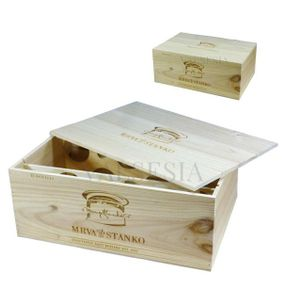 Gift packaging - wooden box Mrva & Stanko Exclusive 12 x 0.75l