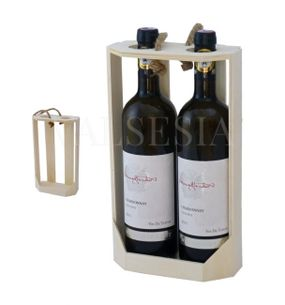 Carrier for two bottles of wine