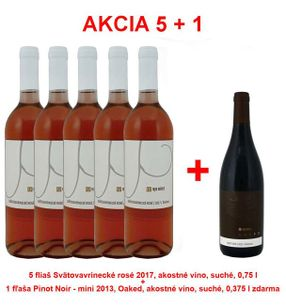 5 + 1 REPA WINERY 5 bottles Santa Rosa 2017, Quality wine, dry, 0.75 l +1 bottle Pinot Noir - mini 2013, Oaked, fine wine, dry, 0.375 l free