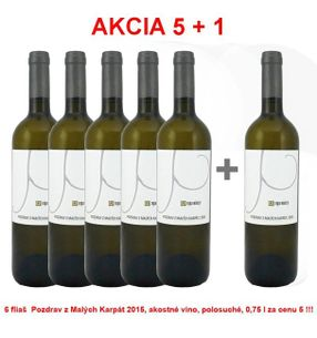 Action 5 + 1 REPA WINERY Greetings from the Small Carpathians 2015, Quality wine, semi-dry, 0,75 l