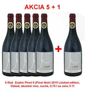 Action 5 + 1 REPA WINERY Zuzkin Pinot II (Pinot Noir) 2015 Limited Edition, Oaked, Quality wine, dry, 0.75 l