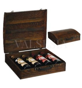 Rustic gift box of four wines F13