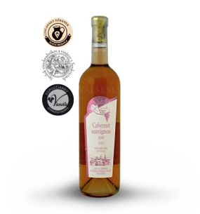 Cabernet Sauvignon rosé, r. 2015 late harvest, semi-dry, 0.75 l
