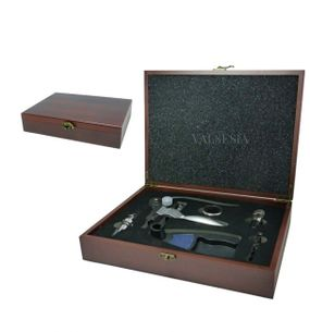 Corkscrew Deluxe accessories in gift box - mahogany