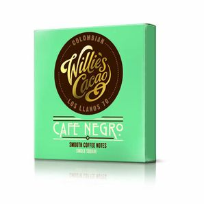 Willie's - Dark chocolate 70% Colombian Café Negro with cofee, 50g