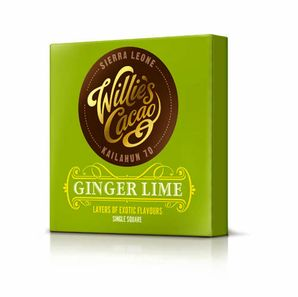 Willie's - Hot Chocolate 70% Sierra Leone with ginger and lime, 50 g