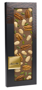 CHocoMe -  40% milk chocolate pecans, almonds, pistachios from Bronte, 100g