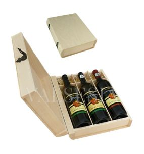 Gift packaging - wooden book 3 x 0.75 l