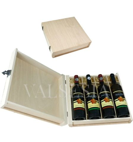 Gift packaging - wooden book 4 x 0.75 l
