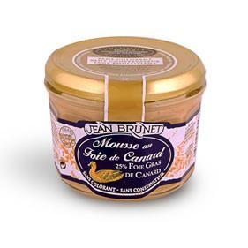 Duck mousse 25% Foie Gras, 180 g, Jean Brunet