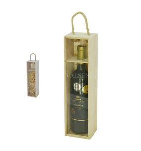 Rack for 1 bottle of wine - glassed