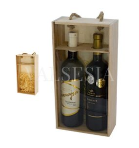 Carrier for two bottles of wine - glassed