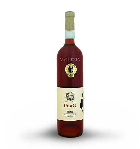 Rubinus - rosé blackcurrant, branded wine, 0.75 l